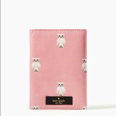 Kate Spade Passport Holder Daycation Painterly Owl in Rosejade