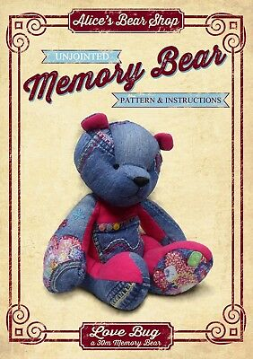 DOWNLOAD PDF Sewing a Memory Bear - Pattern and Instructions - Love Bug