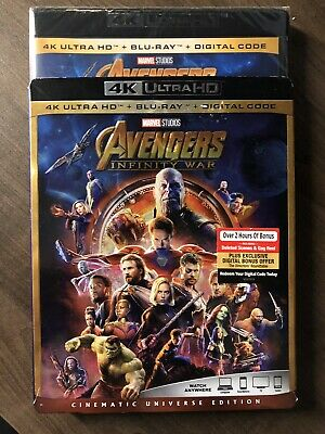 Avengers Infinity War 4K Ultra HD & Bluray w Slip Cover Canada Bilingual LOOK