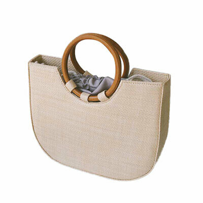 1PC Chic Women Straw Shoulder Bag Handbag for Beach Shoppings Travel Party