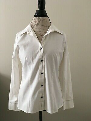 c751db67097 Gold Label Investments Women White Long Sleeve Non-Iron Business Shirt Sz 8  D23