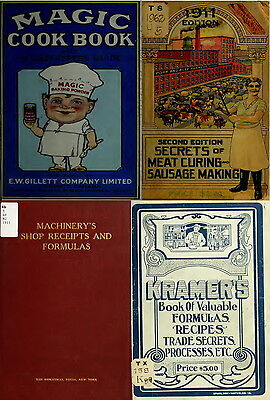 215 RARE BOOKS ON SECRET RECIPE, FORMULAS, 1000s VINTAGE HOUSEHOLD TIPS ON DVD
