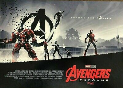 "AVENGERS*ENDGAME*Opening Week AMC*IMAX MINI POSTER 11"" x 15.5  BRAND*NEW*2$ SHIP"