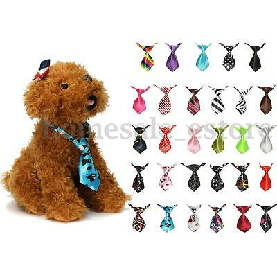 Pet Puppy Kitten Dog Cat Adjustable Neck Collar Necktie Grooming Suit Bow Tie
