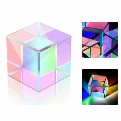 Optical Glass X-cube Dichroic Cube Prism RGB Combiner Splitter 15*15mm
