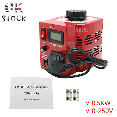 0.5KW Variac Variable Transformer Voltage Regulator Powerstat 0-250V Output UK