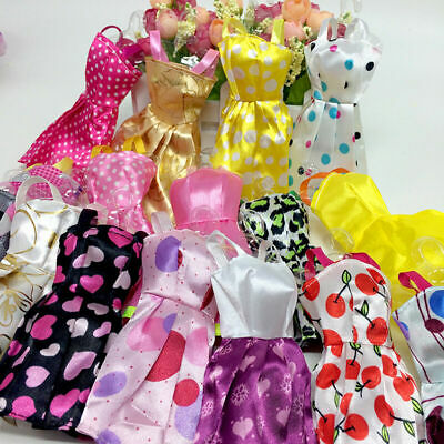 10 Pcs/Lot Fashion Handmade Dresses Clothes For 11Inch  Dolls Style Random