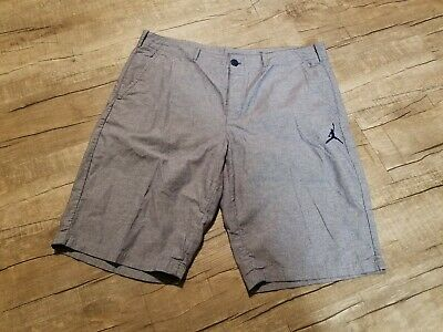 a7a978b1a0a NIKE AIR JORDAN City Knit Fleece Shorts Gray And Gold 835159 Men's ...