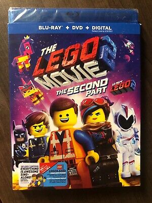 The LEGO Movie 2 The Second Part Blu Ray & DVD Slip Cover Canada Bilingual LOOK