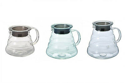 Hario XGS V60 Range Coffee Server Glass Clear Coffee Pot Tea Pot XGS Series New