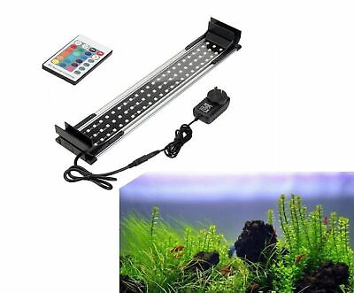 26-117cm Aquarium Fish Tank LED RGB Lamp Light Lighting Extenable Control Remote