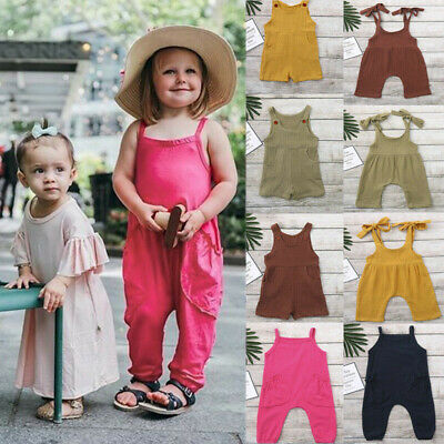 7b1565325 Newborn Infant Baby Boys Girls Solid Overalls Romper Jumpsuit Outfit Clothes  Set