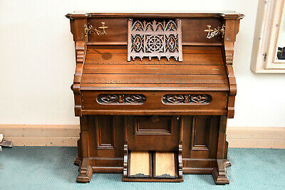 BELL & CO antikes Saugwind Harmonium Orgel Guelph Canada Hickie - ca 1900