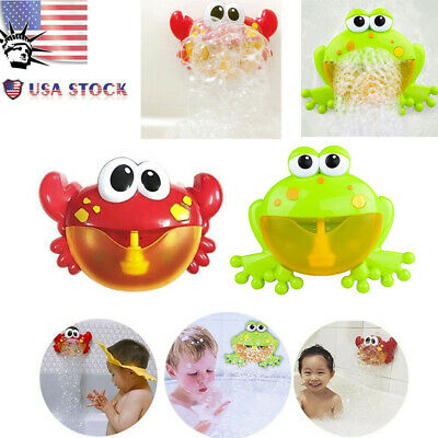 Bath Tub Bubble Machine Automatic Water Toy Bubble Maker Music Bath Toy For Baby