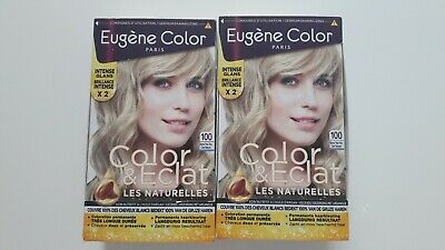 °°° EUGÉNE COLOR Lot de 2 colorations blond très très clair °°°