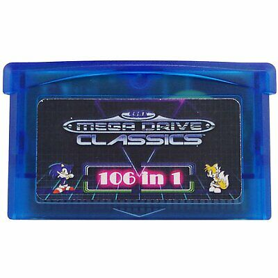 106 in 1 Games Cartridge GBA Multicart for Game Boy Advance GBA SP NDS Multicart