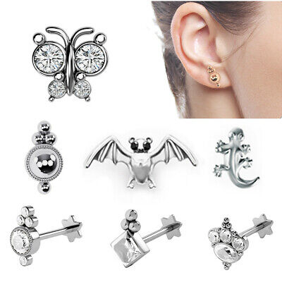 Monroe Labret Stud Lip Ring Ear Cartilage Tragus Helix Piercing Earring Steel