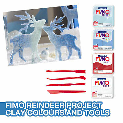 Fimo Soft And Effect Reindeer Christmas Making Project Kit