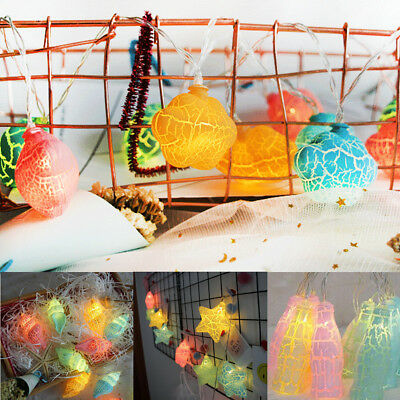 Star Cloud Shaped Fairy String Light Kids Christmas Gift Baby Nursery Room Decor