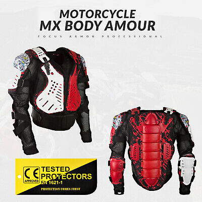 Biker Protector Adults Motocross Enduro MX Body Armour 2019 Jacket Red
