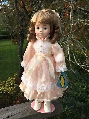 Pretty Ceramic Bisque Doll 40cm Thomas Trent Colonial Cottage Collection