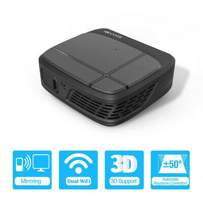 Portable WiFi 3D DLP Projector LED Home Theater Business HD Movies 3300 Lumens
