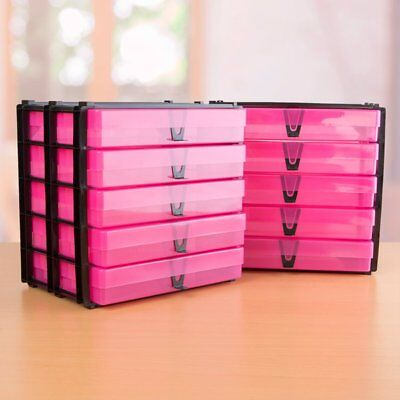 Pack Of 2 A4 Stacks With10 Pink A4 Storage Boxes