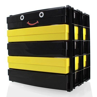 Black & Yellow A4 Craft Paper Storage Tower