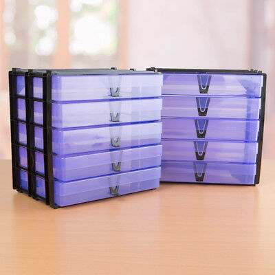 Pack Of 2 A4 Stacks With 10 Purple A4 Storage Boxes