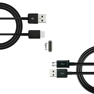 USB Type C To USB Male Data Sync Charging Cable & Micro USB Data Charger Cable