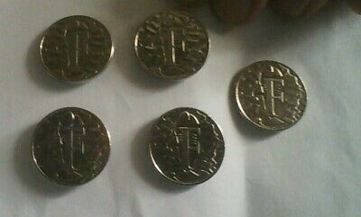 2018 Alphabet 10P Coins F Fish And Chips Five For £5