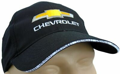 c646d9d3 Chevrolet Classic Baseball Cap Black Hat Logo Embroidered In Front  Adjustable