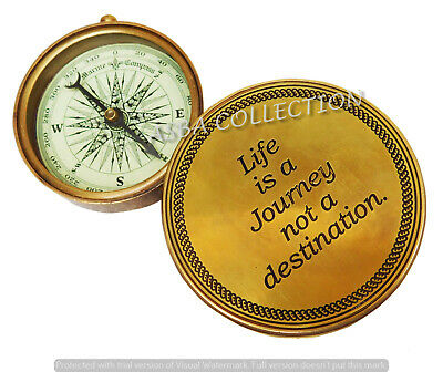 Brass Flip Out Compass Life Is A Journey Not A Destination Compass Gifted Item