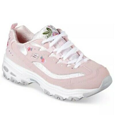 20d5c7f6da45 Skechers Women s D Lites Bright Blossoms walking Sneaker light pink 11977