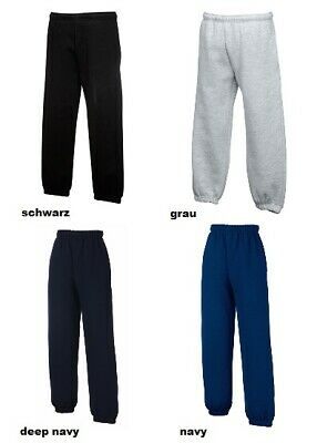 Fruit of the Loom Kinder Jogginghose Sweathose Sporthose elastische Bündchen