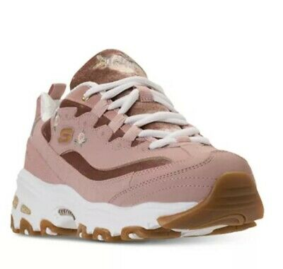 ccbc58fc98b5 Skechers Women s D Lites Bright Rose Blossoms Sneaker Rose 13084