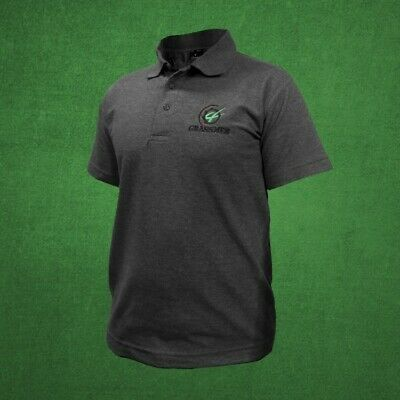 """Official Grassmen """"Agri Is Our Culture"""" Charcoal Grey Polo T-Shirt Sizes L-XL"""