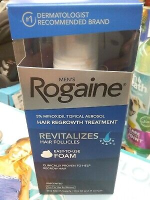 Mens Rogaine Foam One Month Supply Exp 5/19