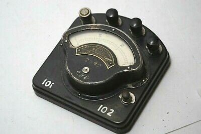 Vtg Weston Electrical Instruments DC Voltmeter Model 280 Mad Scientist Steampunk