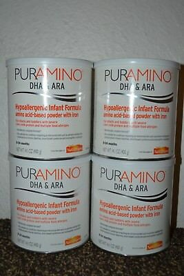 4 Cans / 1 Case Puramino Infant Formula FREE FAST PRIORITY SHIPPING AHOA