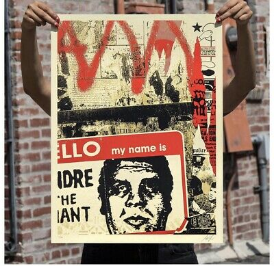 Hello My Name Is Signed & Numbered Screen Print Obey Shepard Fairey