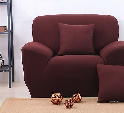 STRETCH ELASTIC FIT FABRIC SOFA SETTEE SLIP COVER  1 Seater Super Fast Delivery