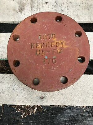 "KENNEDY 1970 CAST IRON VALVE PLATE 9"" Diameter Industrial Salvage Art"