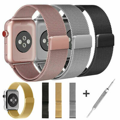For Apple iWatch Series 4 40mm 44mm Magnetic Milanese Loop Band Stainless Steel