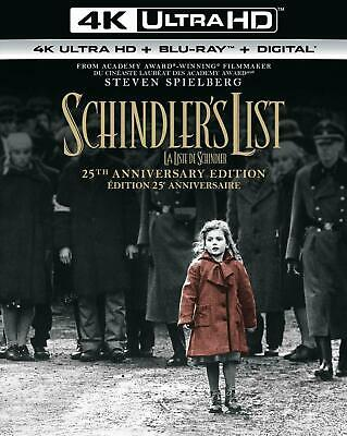 Schindler's List 25th Anniversary - 4K UHD UltraHD + Blu-ray + Digital Brand New
