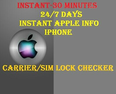 Apple iPhone Carrier Check Network SIM Lock Status Check Report Service GSX