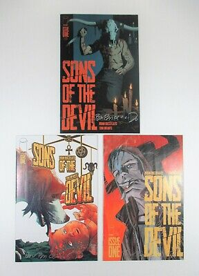 Sons of the Devil #1 Three Variant Lot All Signed by Brian Buccellato Image
