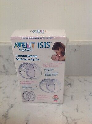 Philips AVENT ISIS Comfort Breast Shells 6 Piece - new in box and sealed
