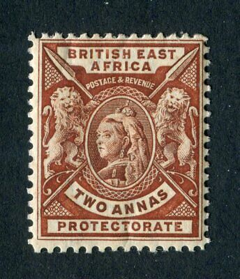 British East Africa/KUT 1896. 2a chocolate. Mint. VLH. SG 67.