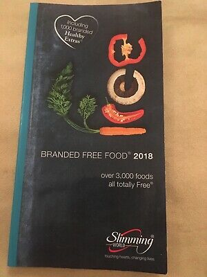 SLIMMING WORLD FREE branded foods &  low Syn Snacks Books 2018 (same